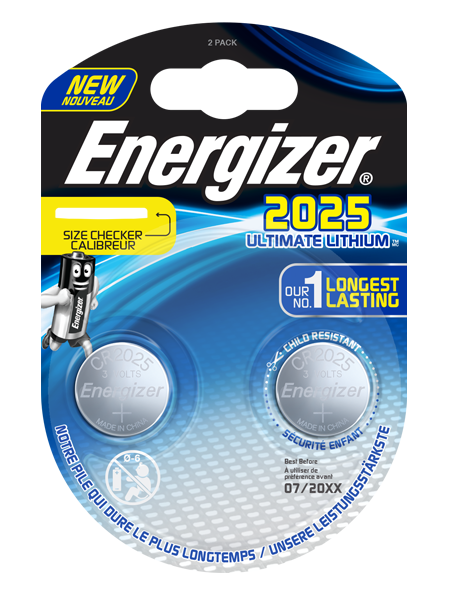 ENERGIZER® ULTIMATE LITHIUM COIN – CR2025