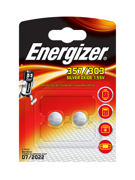 Energizer® Armbanduhr-Batterien – 357/303