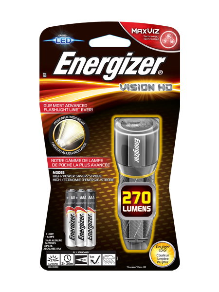 Energizer® Metal Vision HD 3AAA