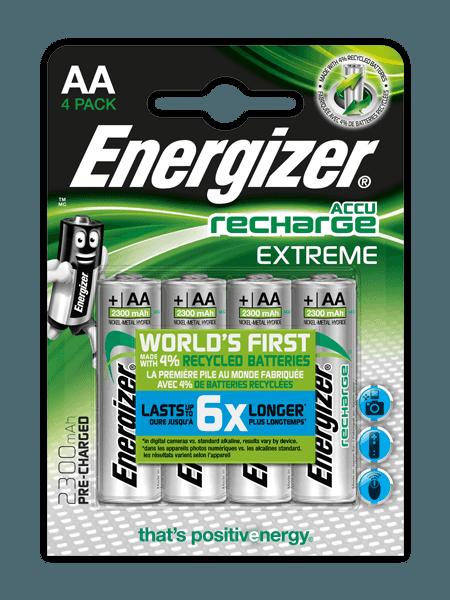 Pilas recargables Energizer® Extreme – AA