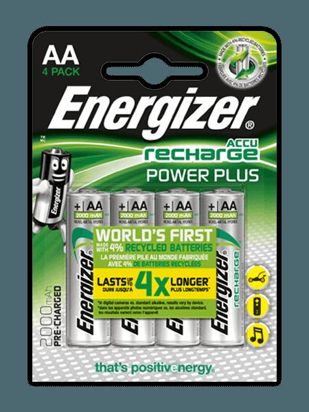 Pilas recargables Energizer® Power Plus – AA