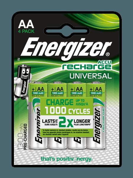 Pilas recargables Energizer® Universal – AA