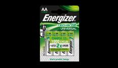 Pilas recargables Energizer® Universal - AA