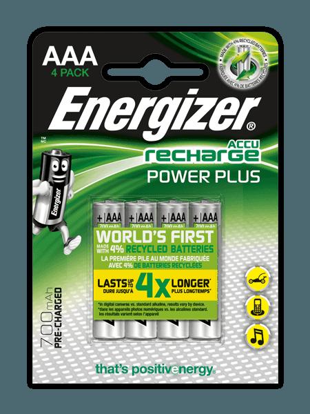 Pilas recargables Energizer® Power Plus – AAA