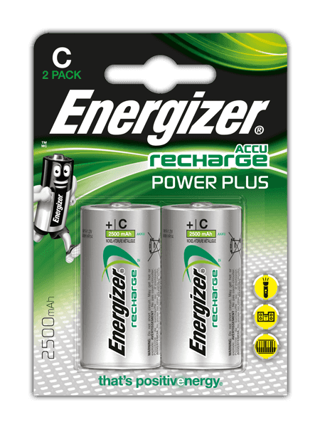 Pilas recargables Energizer® Power Plus – C
