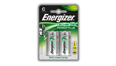 Pilas recargables Energizer® Power Plus - C