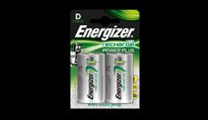 Pilas recargables Energizer® Power Plus - D