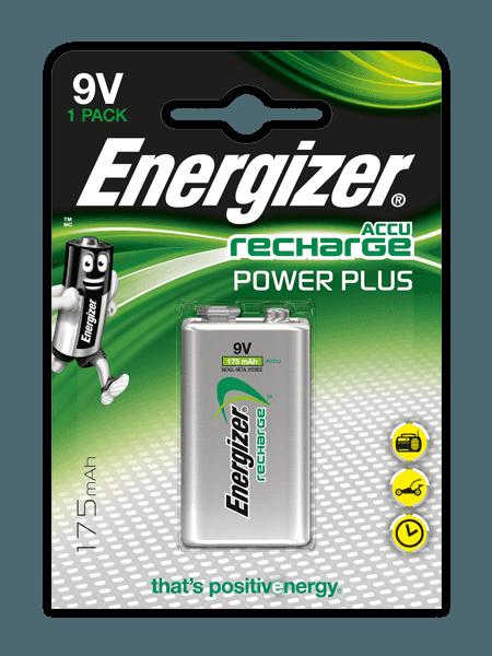 Pilas recargables Energizer® Power Plus – 9V