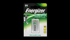 Pilas recargables Energizer® Power Plus - 9V