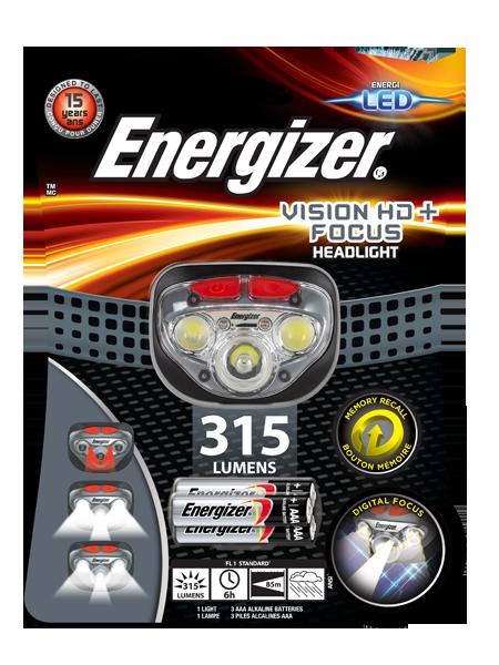 Energizer® Vision HD+ Focus headlight
