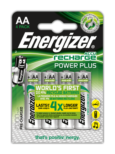 Piles Energizer® Recharge Power Plus – AA