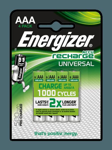 Piles Energizer® Recharge Universal – AAA