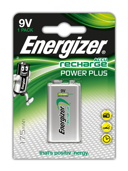 Piles Energizer® Recharge Power Plus – 9V