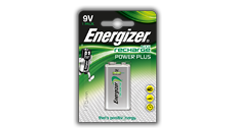 Piles Energizer® Recharge Power Plus - 9V