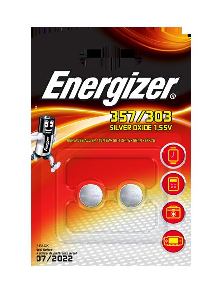 Piles Energizer® pour montres – 357/303