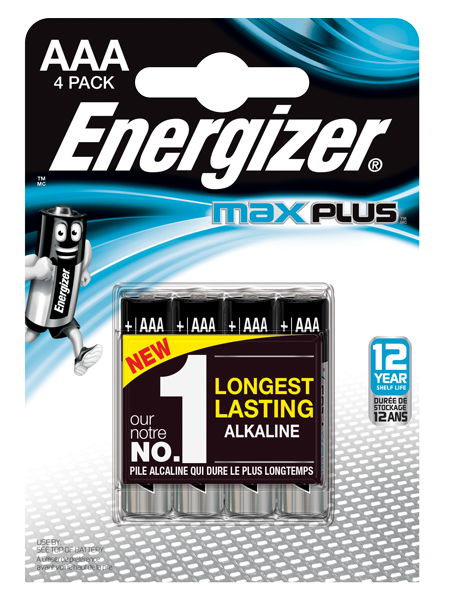 ENERGIZER ® MAX PLUS ™ – AAA