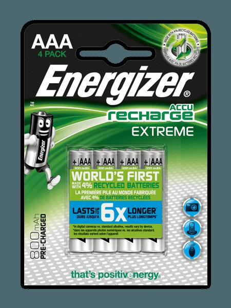 Energizer® Recharge Extreme akkumulátorok – AAA