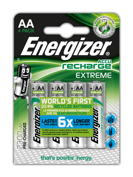 Batterie ricaricabili Energizer® Extreme – AA