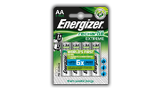 Batterie ricaricabili Energizer® Extreme - AA