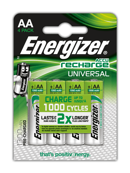 Batterie ricaricabili Energizer® Universal – AA