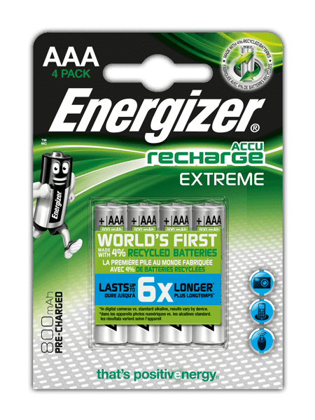 Batterie ricaricabili Energizer® Extreme – AAA