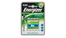 Batterie ricaricabili Energizer® Extreme - AAA