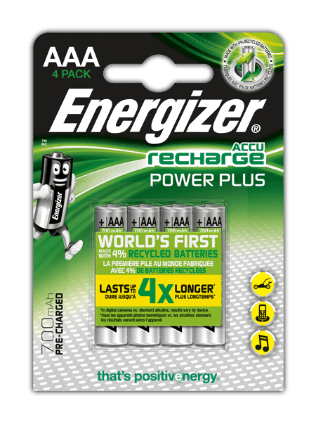 Batterie ricaricabili Energizer® Power Plus – AAA
