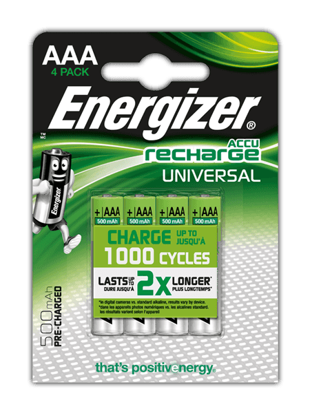 Batterie ricaricabili Energizer® Universal – AAA