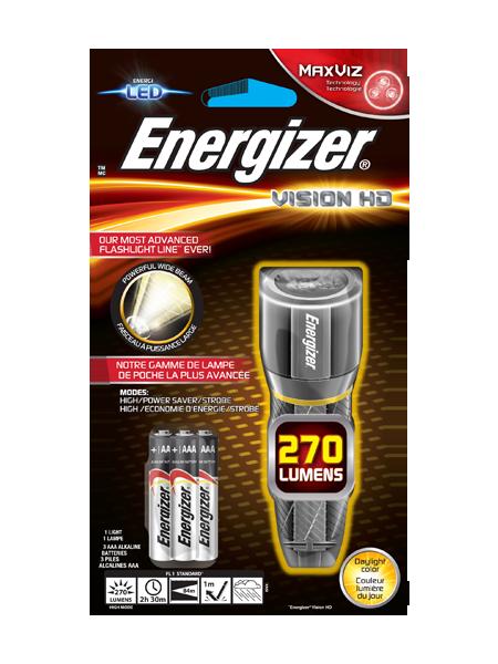 Energizer® Metal Vision HD 3AAA