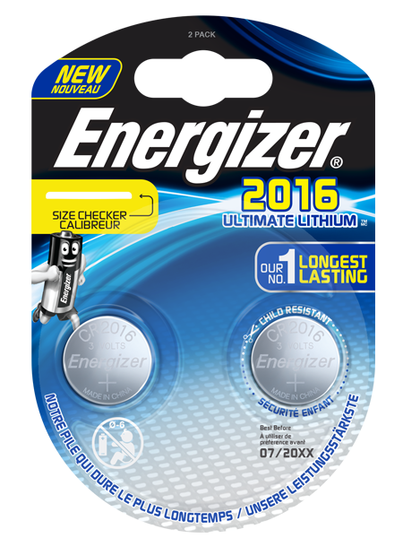 ENERGIZER® ULTIMATE LITHIUM COIN – CR2016