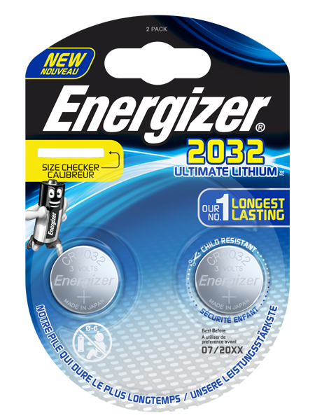 ENERGIZER® ULTIMATE LITHIUM COIN – CR2032