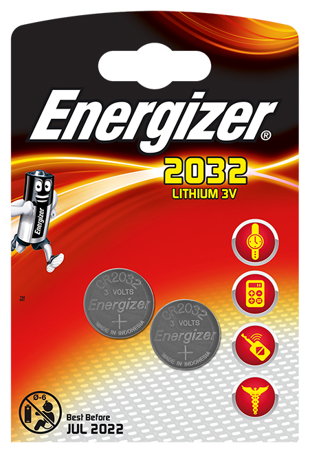 Baterie Energizer® do urządzeń elektronicznych – CR2032