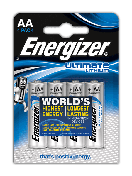 Baterii Energizer® Ultimate Lithium – AA