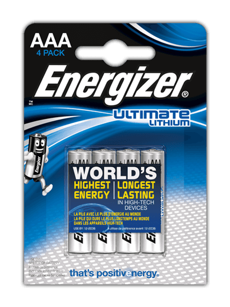 Baterii Energizer® Ultimate Lithium  – AAA