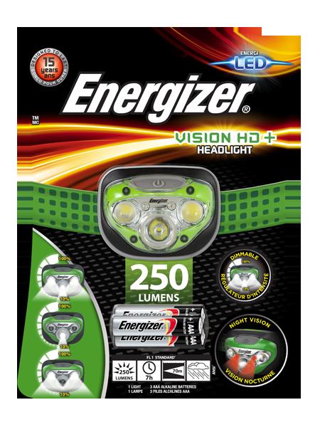 Latarka czołowa Energizer® Vision HD+