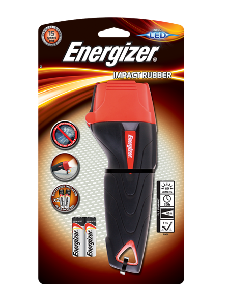 Energizer® Impact Rubber 2AA