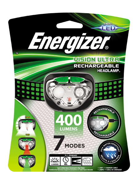 ENERGIZER® Rechargeable Headlight