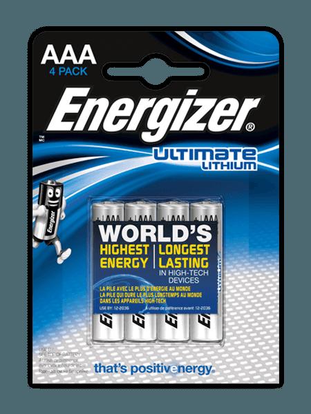 Батарейки Energizer® Ultimate Lithium – AAA