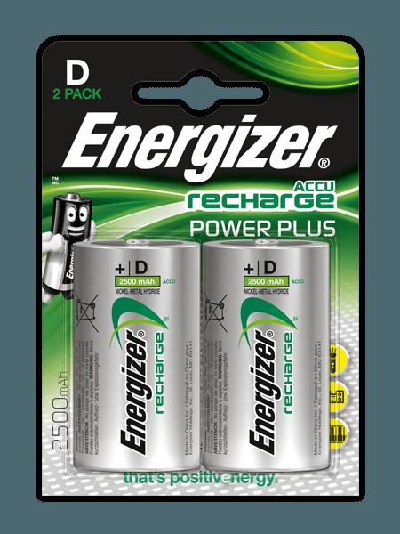 Energizer® Аккумуляторы Power Plus – D