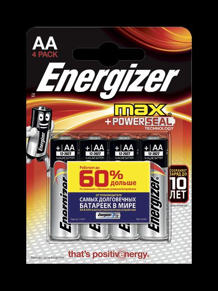 Щелочные Батарейки Energizer® Max – AA
