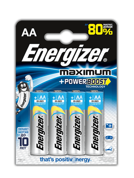 Щелочные Батарейки Energizer® Maximum – AA