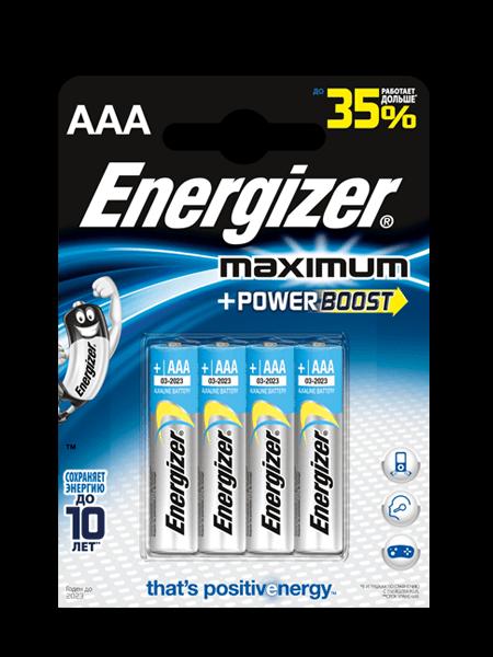 Щелочные Батарейки Energizer® Maximum – AAA