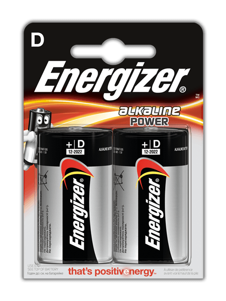 Energizer® Alkaline Power – D