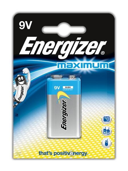 Baterie Energizer® Maximum – 9V