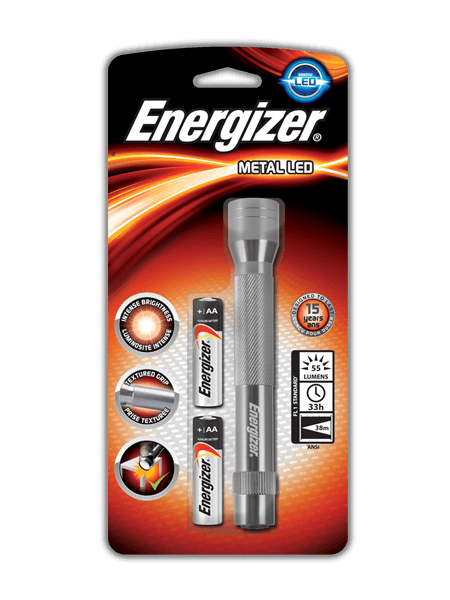 Energizer<sup>®</sup> Metal LED 2AA