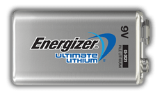 Energizer<sup>®</sup> Ultimate Lithium - 9V