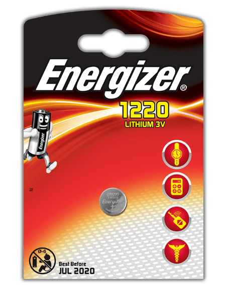 Energizer<sup>®</sup> Electronic Batteries – CR1220