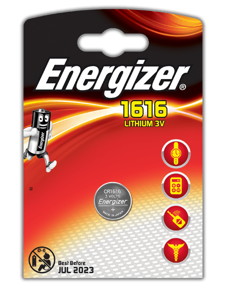Energizer<sup>®</sup> Electronic Batteries – CR1616