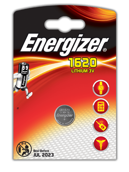 Energizer® Electronic Batteries – CR1620