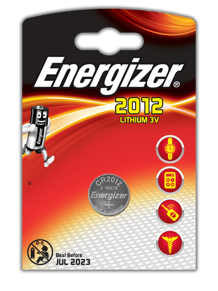 Energizer<sup>®</sup> Electronic Batteries – CR2012